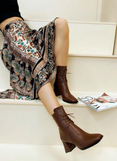 Women ankle boots KYLIN - CAMEL