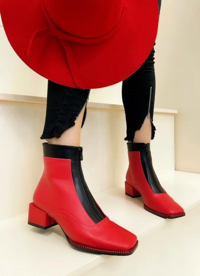 Women ankle boots ANIA - RED