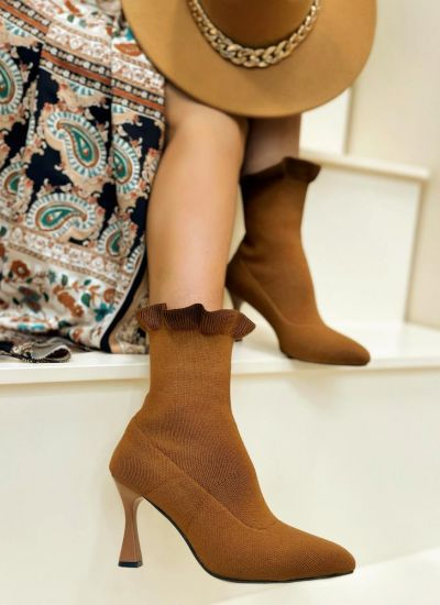 Women ankle boots CHIOMA - CAMEL