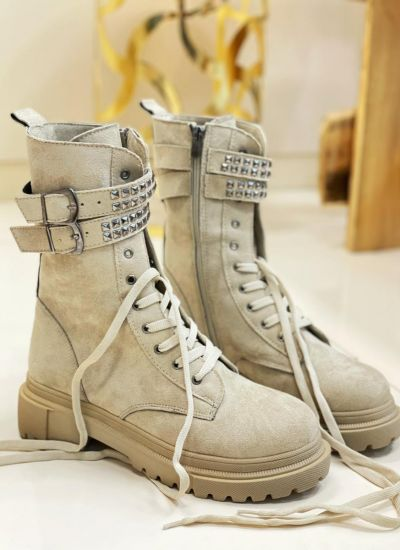 Women ankle boots AREIA - BEIGE