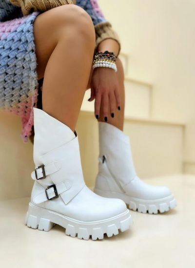 Women ankle boots VANANI - WHITE