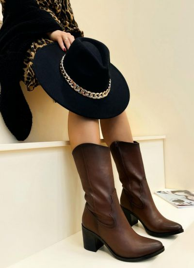 Women ankle boots RENEE - BROWN