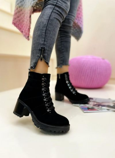 Leather ankle boots MARTHA - BLACK