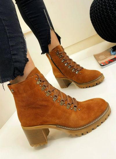Leather ankle boots MARTHA - CAMEL