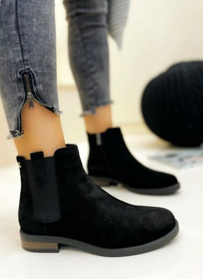 Leather ankle boots DARCIE - BLACK