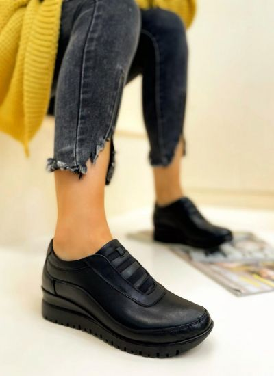 Leather shoes & flats NARIN - BLACK