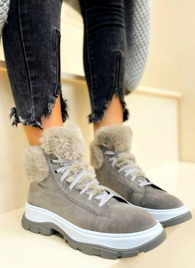 Women ankle boots YARAH - GREY