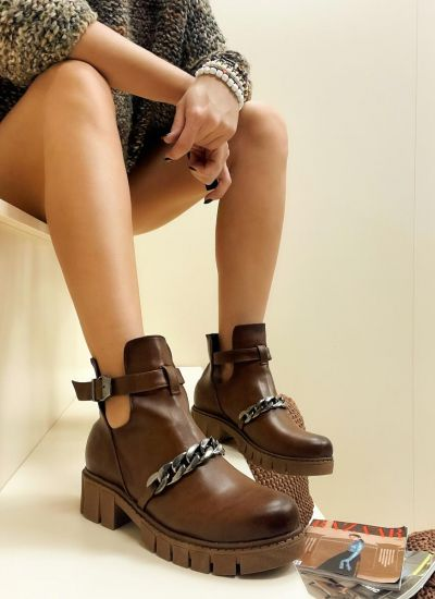Women ankle boots VIDYUL - BROWN