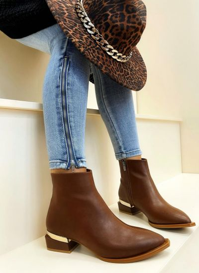 Women ankle boots CALLIE - CAMEL