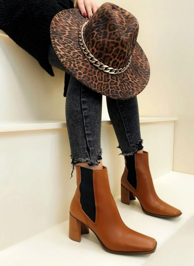 Women ankle boots HALLEY - CAMEL
