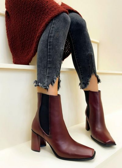 Women ankle boots HALLEY - WINE RED