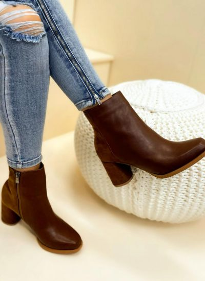 Women ankle boots ANORA - CAMEL