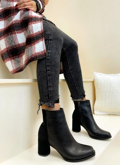 Women ankle boots ANORA - BLACK