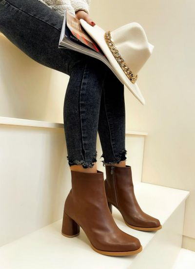 Women ankle boots AMEILA - CAMEL