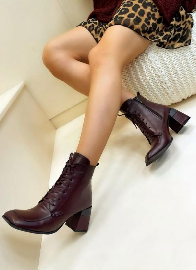 Women ankle boots JEEVAL - WINE RED