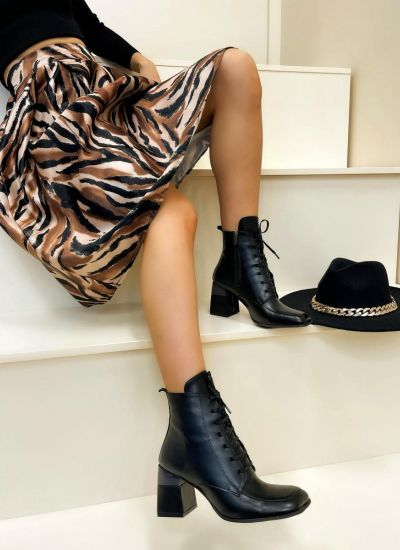Women ankle boots JEEVAL - BLACK
