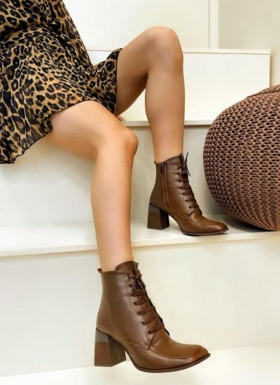 Women ankle boots JEEVAL - CAMEL