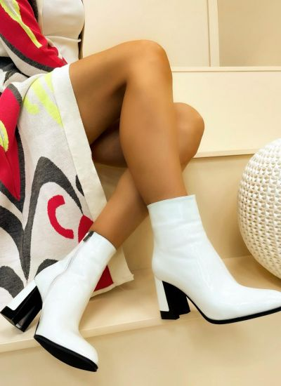 Women ankle boots HOLDEN - WHITE