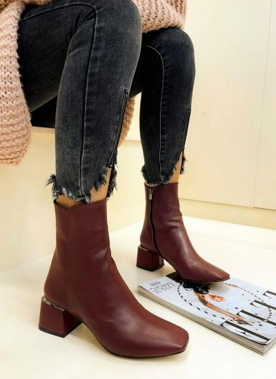 Women ankle boots SHOBNA - WINE RED