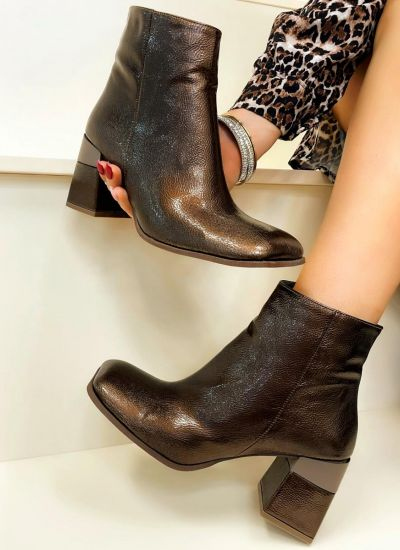Women ankle boots FAWIZA - BRONZE