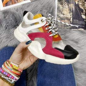 TRANSPARENT COLOURFUL SNEAKERS WITH SPORTS SOLE