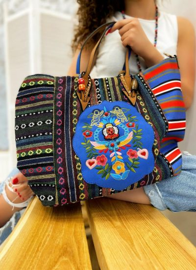 COLORFUL BAG WITH EMBRODERY