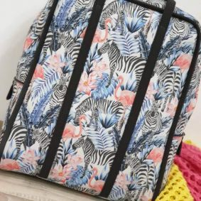 BACKPACK ZEBRA FLAMINGO