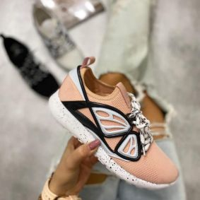 STRETCH SHALLOW SNEAKERS  - POWDER ROSE