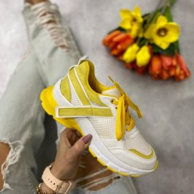 FEMALE SNEAKERS - YELLOW/WHITE