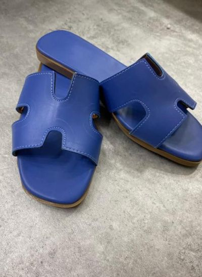 WOMEN MULES - BLUE