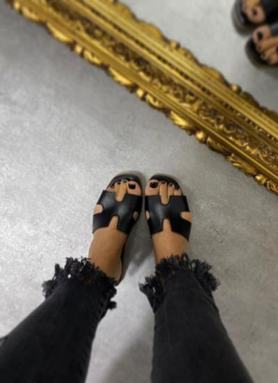 WOMEN MULES - BLACK