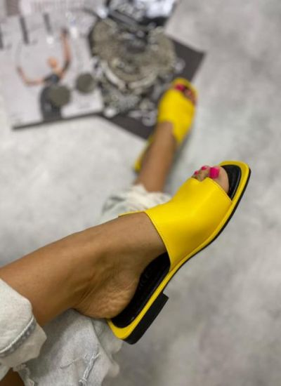WOMAN MULES - YELLOW