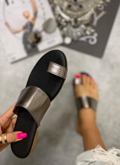 METALLIC MULES - GRAPHIT