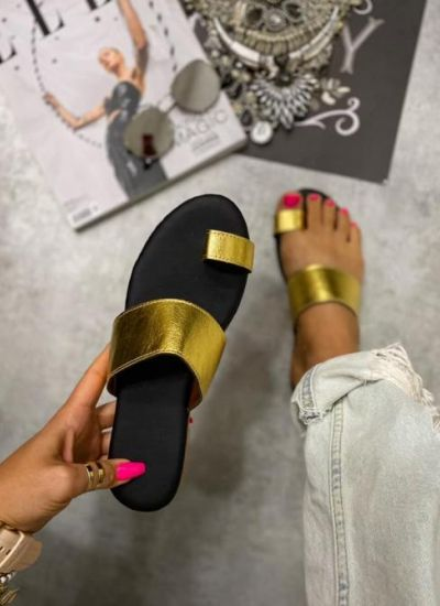 METALLIC MULES - GOLD