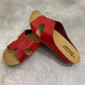 ANATOMICAL SLIPPERS WITH HIGH SOLE - RED