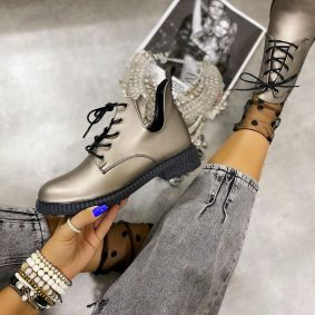 LACE UP SHOES - PLATINUM
