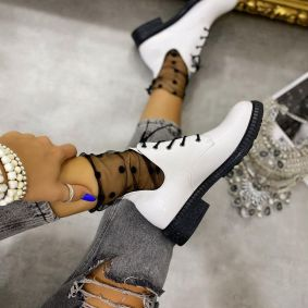 LACE UP SHOES - WHITE