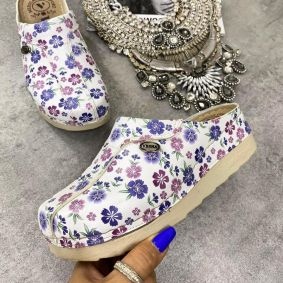 FLOWER ANATOMIC CLOGS - WHITE