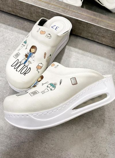 AIRMAX DOCTOR CLOGS -  WHITE