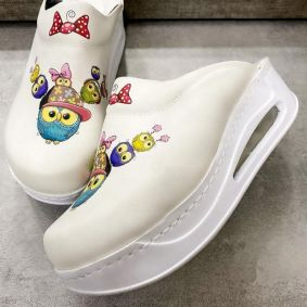 AIRMAX CLOGS WITH OWLS - WHITE