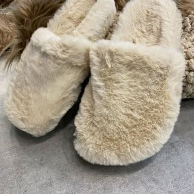 FLUFFY SLIPPERS - BEIGE