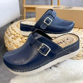 ANATOMIC CLOGS WITH SAW VESNA - NAVY BLUE
