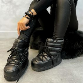 ANKLE TEXAPORE SNOW BOOTS - BLACK