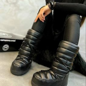 HIGH TEXAPORE SNOW BOOTS - BLACK