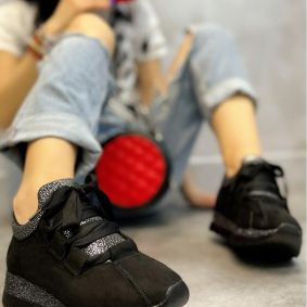 STRASS SNEAKERS - BLACK