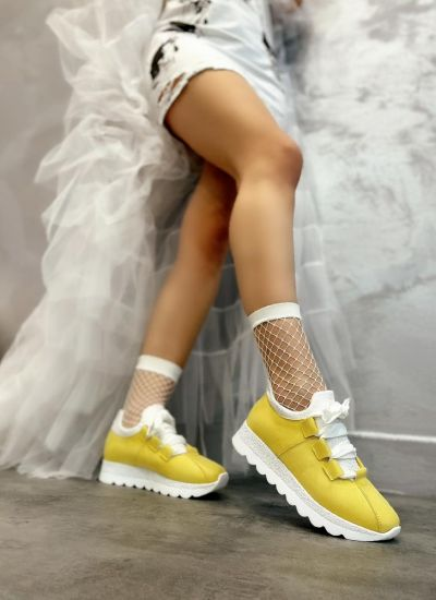 STRASS SNEAKERS - YELLOW