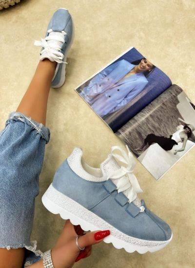 STRASS SNEAKERS - BLUE