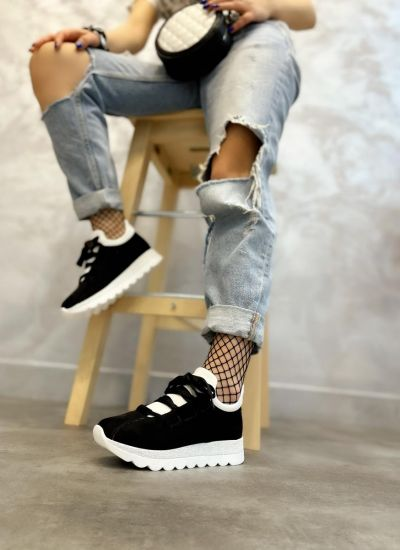 STRASS SNEAKERS - BLACK/WHITE