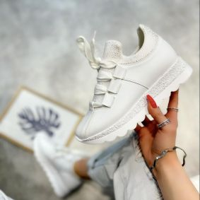 STRASS SNEAKERS - WHITE
