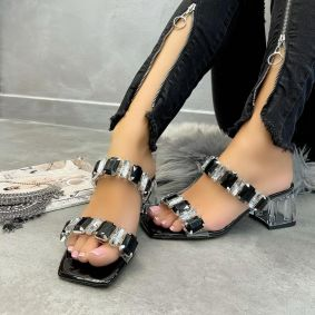 ORNAMENTS MULES - BLACK